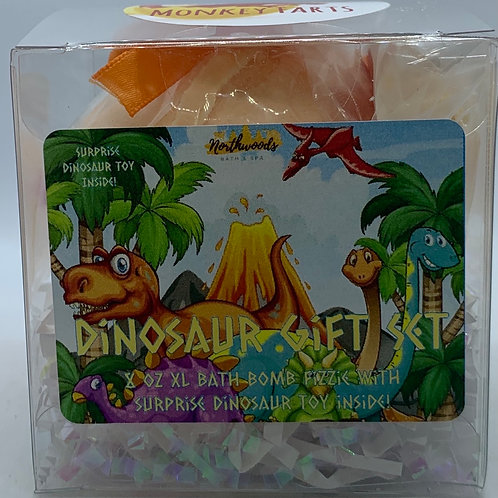 Colossal Dinosaur (Monkey Farts) XXL 8 oz Bath Bomb Gift Set (orange)