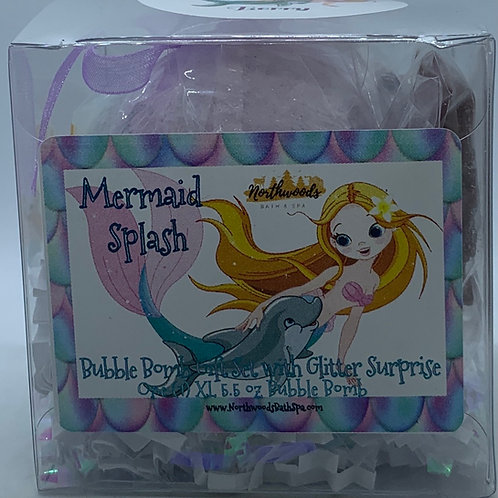 "Mermaid Splash ""Berry"" 5.5 oz Bubble Bomb Gift Set"