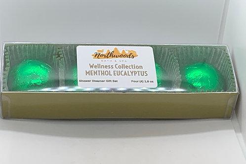 Menthol Eucalyptus 4-pack Shower Steamer Gift Set