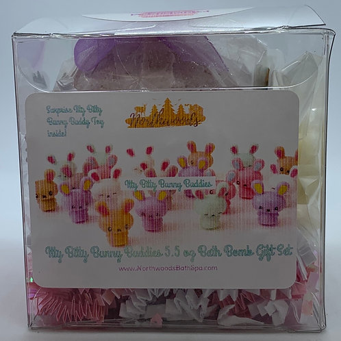 Itty Bitty Bunny Buddies (Be Enchanted) 5.5 oz Bath Bomb Gift Set