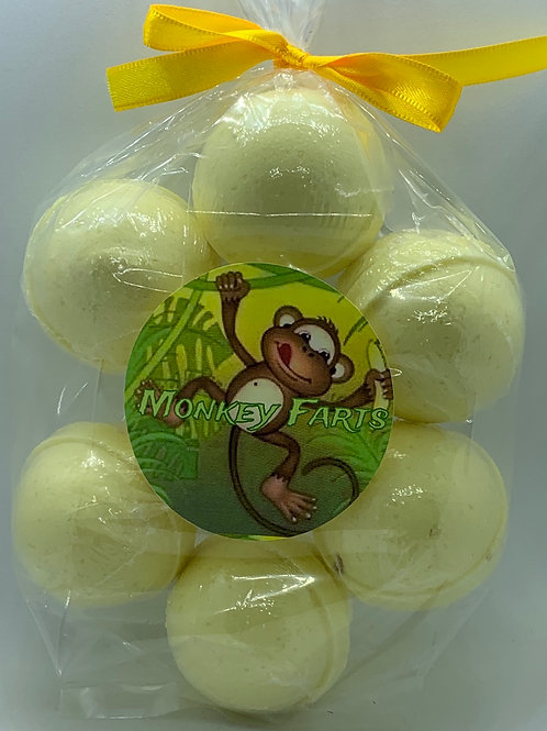 Monkey Farts 7-pack Bath Bomb Fizzies