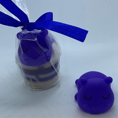 "Water Squirter ""Hippopotamus"" 1.3 oz Jelly Bean Soap"