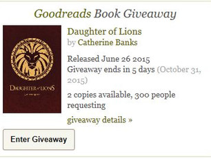 Daughter of Lions Giveaway on GR!