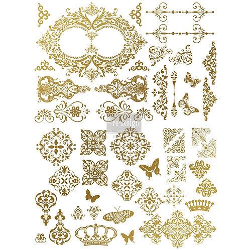 Decor Transfer-Gilded Baroque Scrollwork