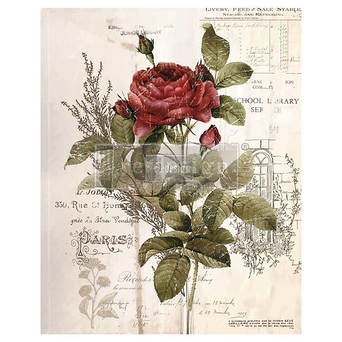 Decor Transfer-Botanical Rose