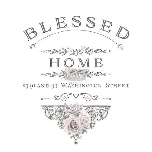 Decor Transfer-Blessed Home