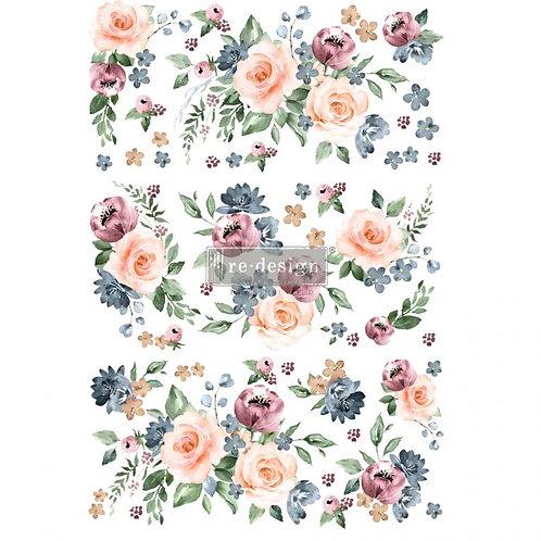 Decor Transfer-Watercolor Bloom