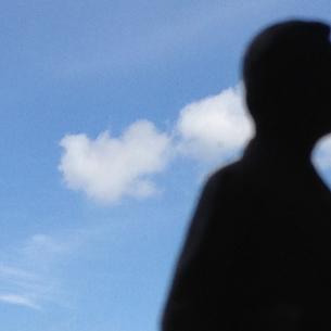 man against sky