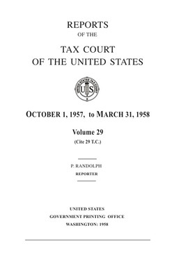 tax court reports 1958
