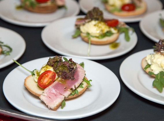 Chef Laurent's tuna appetizer