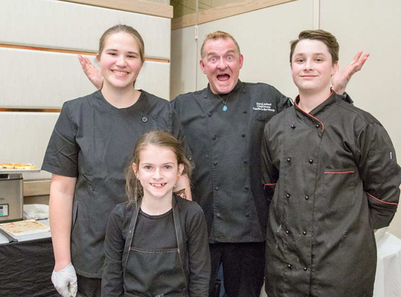 Chef David and helpers from Young Chef Academy