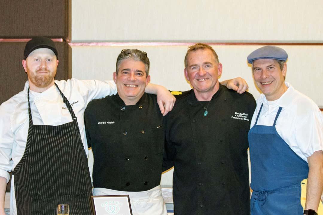 Chefs Alec Tompkins, Bill Hilbish, David Adlard, and Laurent Zirotti