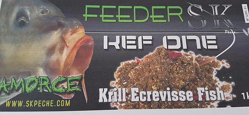 AMORCE FEEDER KEF ONE KRILL ECREVISSE 1KG