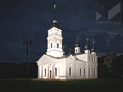 Архитектурное освещение храма. Визуализация.