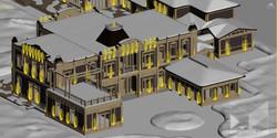 Архитектурное освещение частного домика.