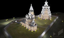 """Архитектурное освещение """"Кижского погоста"""". Расчеты освещенности. Визуализация."""