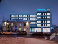 Визуализация.Концептуальное решение  по фасадному освещению здания ЭТК «Минимакс»