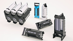 Визуализация концепта арматуры для модульного спортивного LED прожектора.