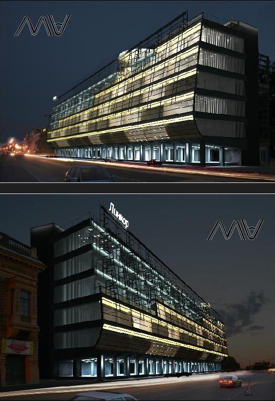 АХП фасада БЦ Линкор
