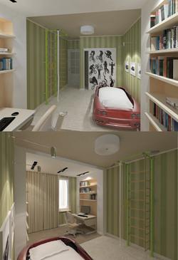 Квартира 4 кмн. Дизайн-проект.