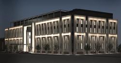 Визуализация из проекта АХО (Архитектурно художественное освещение) фасадов  административного здани