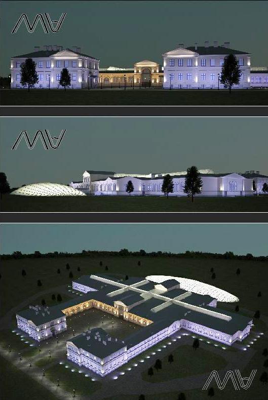 АХП зданий исторического комплекса.