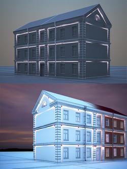 Моделирование и визуализация архитектурного освещения (3dsMax)