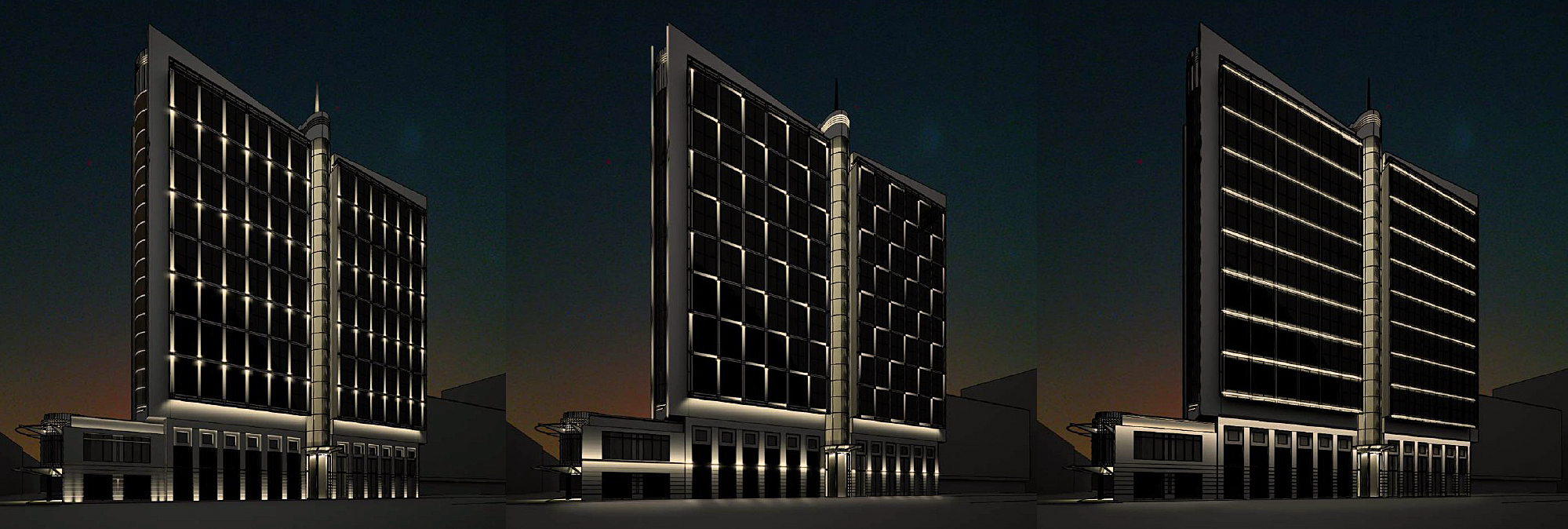 АХП фасада гостиницы Марриотт