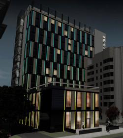 Эскизное предложение Adobe Photoshop (GIF анимация) по АХО (архитектурно художественному освещению)