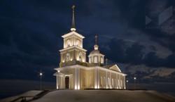 Сретенская церковь. Архитектурное освещение. Визуализация.