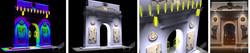 АХО (Архитектурно художественное освещение) мемориала ВОВ. Визувлизации. Фотография.