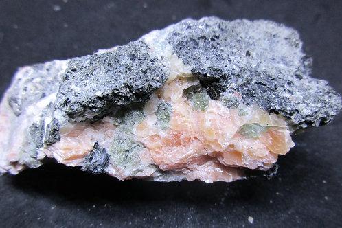 Calcite rose, Apatite, Biotite / aut-5 / Wakefield