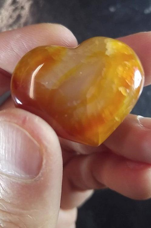 Coeur poli - Agate