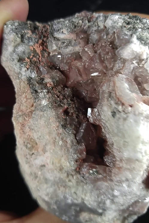 Calcite, Halite, Chalcopyrite et Barite, Mine Niobec, St-Honoré