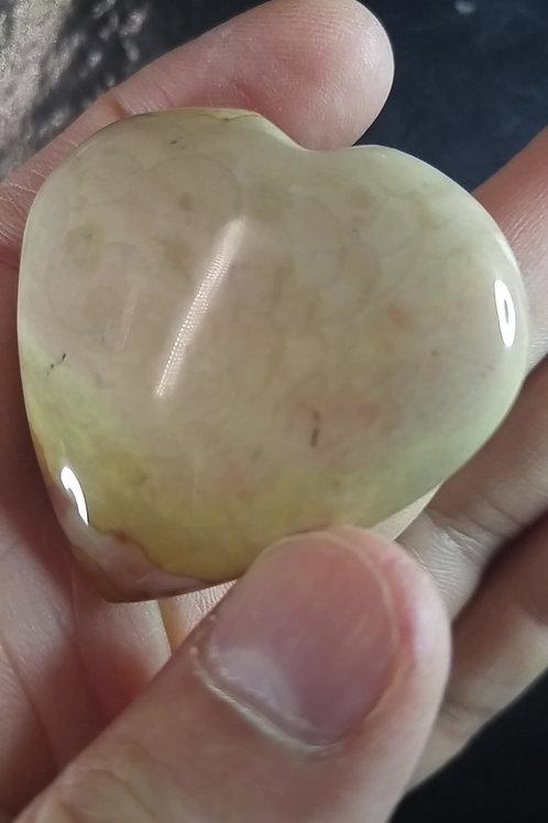 Coeur poli - Jaspe