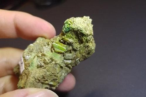 Grenat vert et Diopside, Mine Orford Nickel, St-Denis-de-Brompton,  Québec