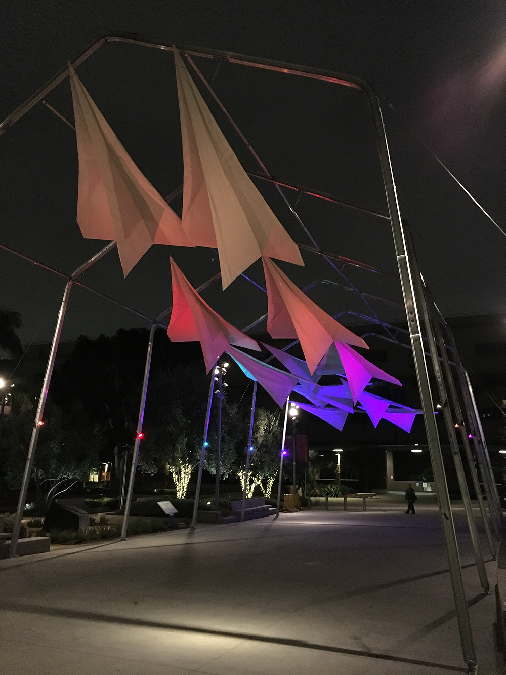 Custom Fabricated LED-lined Flying Scenery!