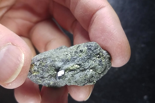Grenat noir et Pyrite sur Magnetite, Mine Sullipek, Gaspésie