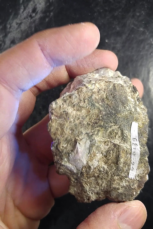 Sodalite var. Hackmanite (fortement fluorescent), Mont-St-Hilaire (MSH)