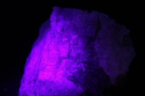 Améthyste, quartz, galène et Calcite (fluorescente), Boulder Creek, Ontario