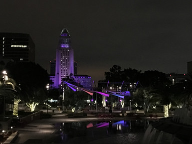 Bringing More Color to Grand Park, NDG lights permanent art installation in front of Los Angeles Cit
