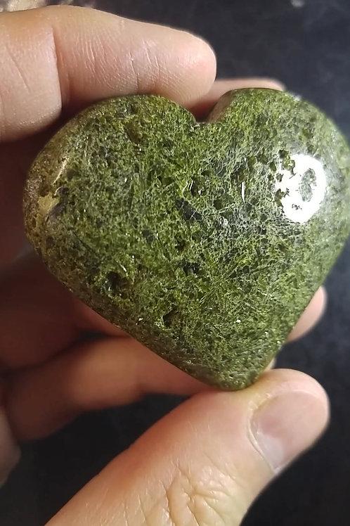 Coeur poli - Epidote