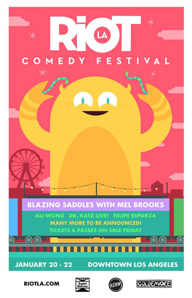 NDG Providing Lighting Design and Production Management for Goldenvoice's RiotLA Comedy Festival