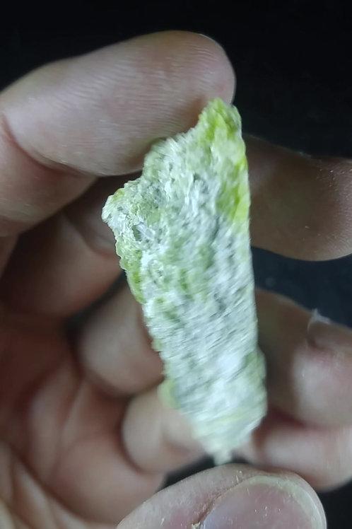Serpentine jaune et Albite, Mine Flintkote, Thetford-Mines