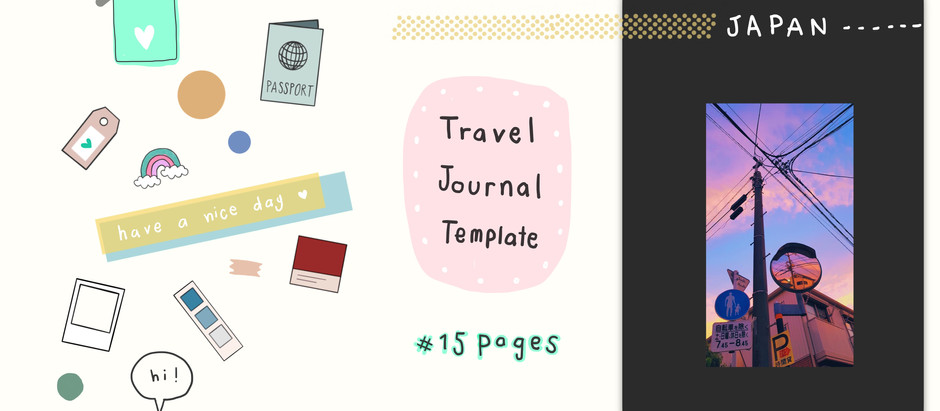 Travel Journal Template   Free Digital Planner