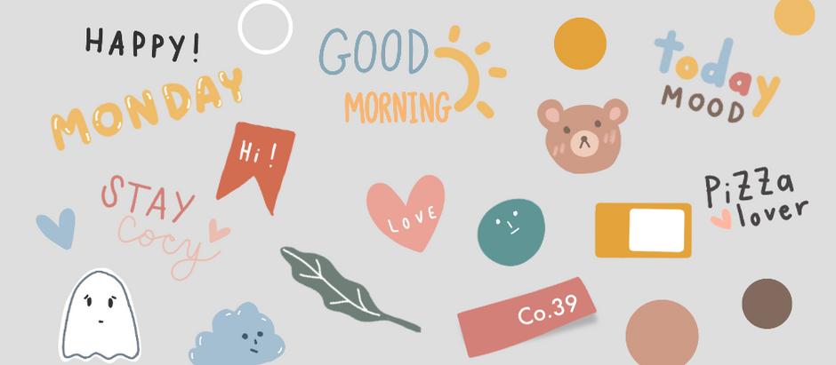 Colors Speak Louder Than Words | Planner Stickers