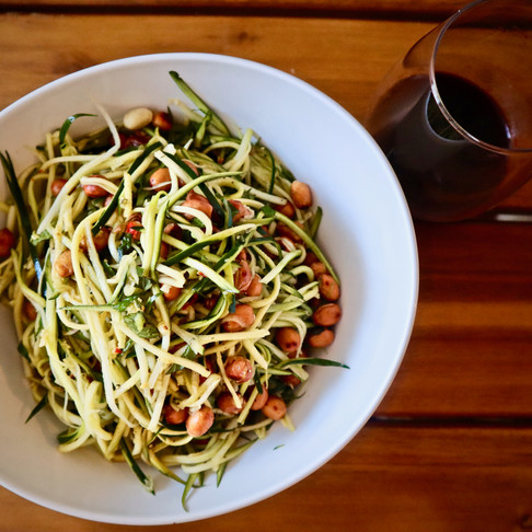 Roasted Peanut, Mint & Zoodle Salad