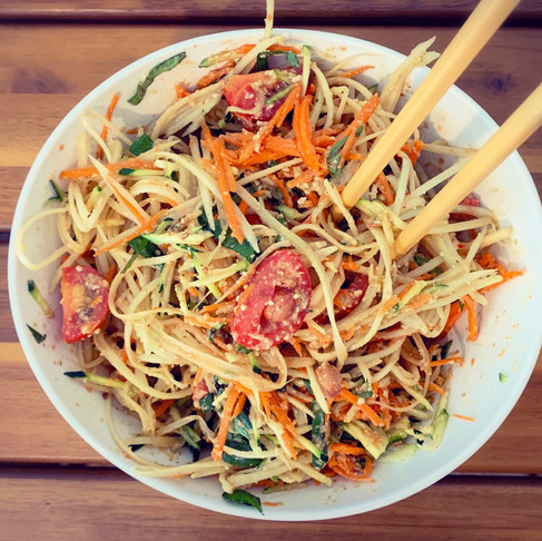 Green Papaya Salad - my style