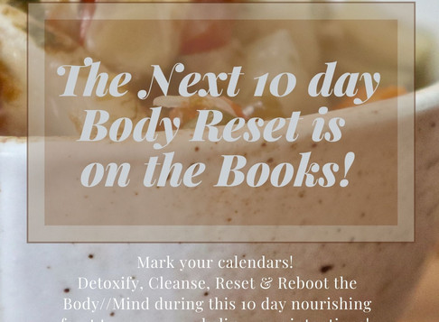 The next Body Reset is scheduled for November 1!