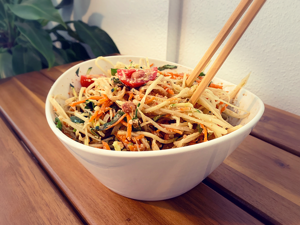 vegan green papaya salad